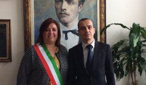 DEPUTY MAYOR OF SOFIA MUNICIPALITY, ASSOC. PROF. TODOR CHOBANOV, MET WITH THE MAYOR OF RUBANO, ITALY, MRS. SABRINA DONI
