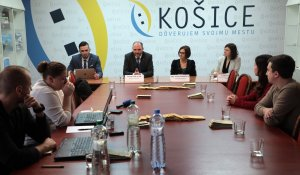 PRESS CONFERENCE ORGANIZED BY THE CITY OF KOŠICE TO INTRODUCE NEW WEB SITE FOR FOREIGNERS